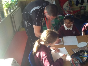 Huw Johnson at Hillcross Primary